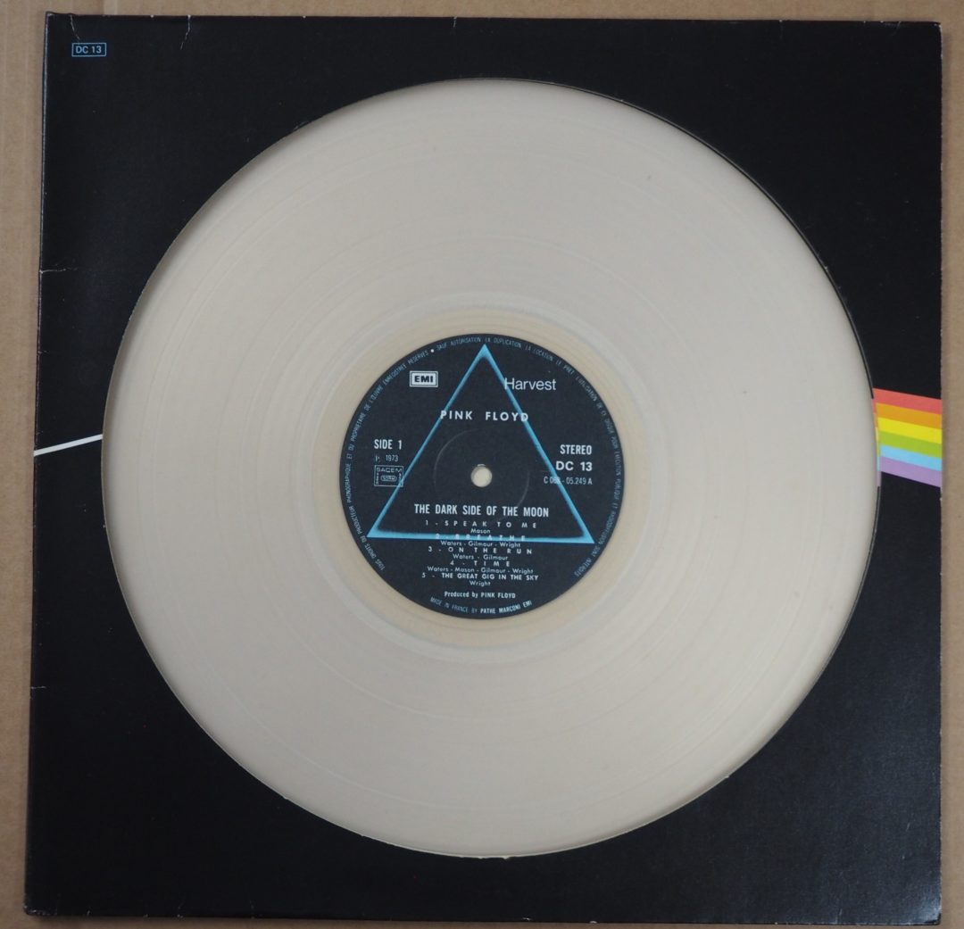The Pink Floyd – LP 12″ Edition couleur Dc 13 « Dark Side Of The Moon  » DIECUT