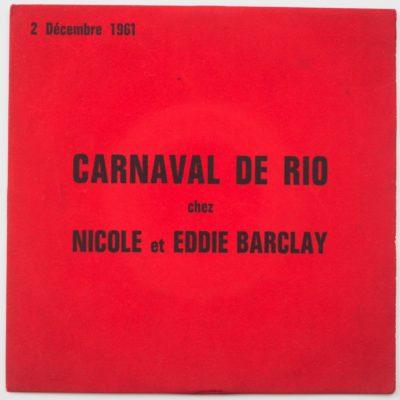 Les Chaussettes Noires / Vince Taylor – Carnaval de Rio – Barclay 70395 EP France